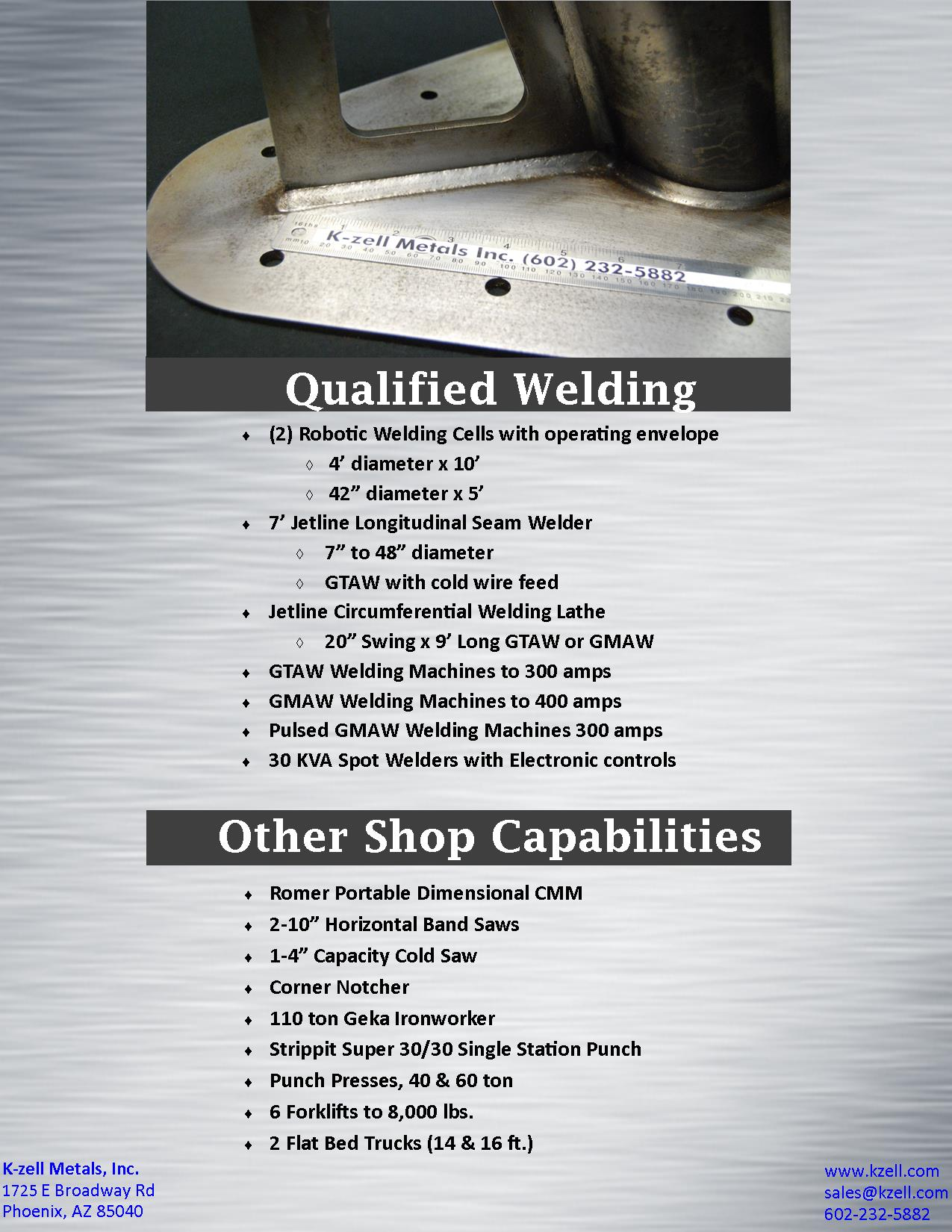 Sheet metal fabrication services custom metal services k zell k zell metals custom fabrication services 4 reheart Choice Image
