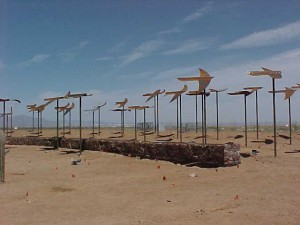 Williams Gateway Airport smithcraft outside art fabricated by kzell metals phoenix arizona