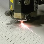 CO2 Laser Cutting Sheet in Process